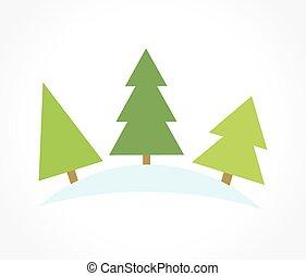 tre, albero, natale