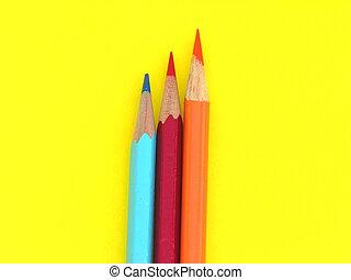 tre, blyertspenna