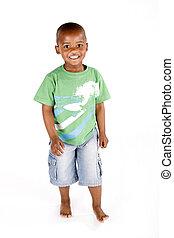 tre, gammalt år, svart pojke
