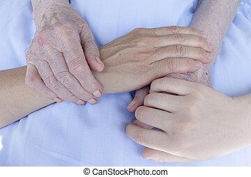 tre generazioni, mani