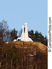 tre, korsar, monument., vilnius., litauen