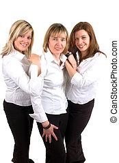 tre kvinder