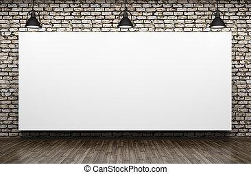 tre, lampan, och, affisch, inre, bakgrund, 3, framförande