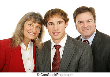 tre, persone affari
