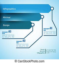 tre, pilar, använda, för, infographics., kan, vara, använd,...