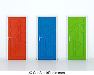 tre, porte