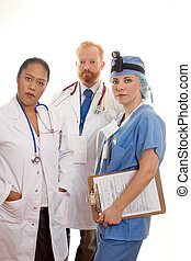 tre, professionisti medici