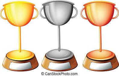 tre, trofei
