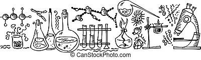 tre, vetenskaplig, labb
