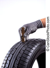 tread depth from tire - car tyre for service an tyre trade