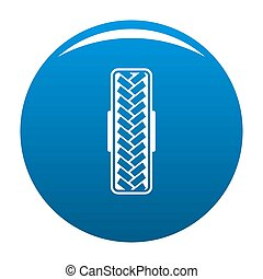 Tread pattern icon blue circle isolated on white background