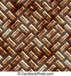 tread plate - a large sheet of diamond or tread plate metal