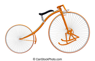Treadle bicycle isolated on white background - Computer ...