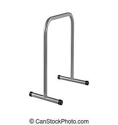 treadmill, barreira, ligado, isolado, fundo branco