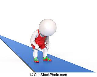 treadmill, cansadas, homem