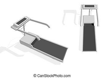 treadmill isolated on white background. 10 EPS