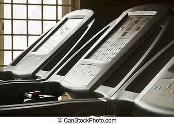 Treadmill equipment - A close-up of treadmill equipment