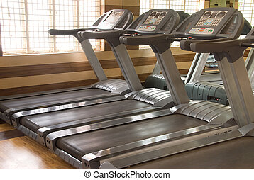 Treadmill equipment in a gym