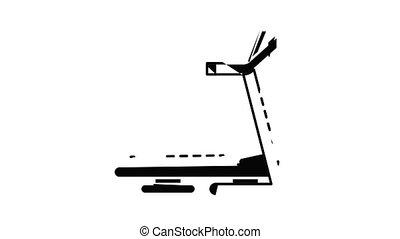 Treadmill icon animation