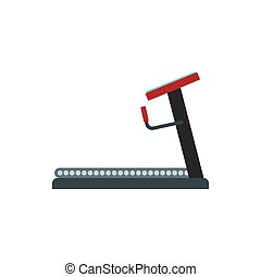 Treadmill icon in flat style
