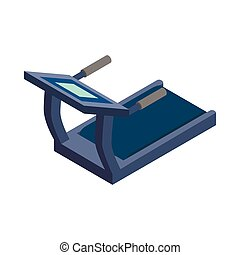 Treadmill icon, isometric 3d style