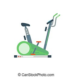 Treadmill illustration. - Treadmill isolated on white...