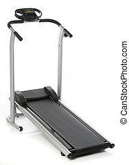 treadmill, isolado, branco, fundo