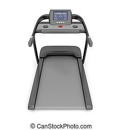 treadmill, máquina, branco