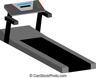 Treadmill Machine - Treadmill machine isolated on a white...