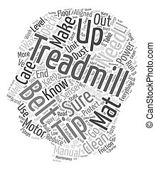 Treadmill Maintenance 11 Tips for the care of your treadmill text background wordcloud concept