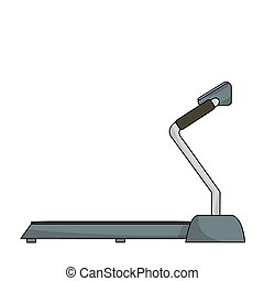Treadmill on a white background
