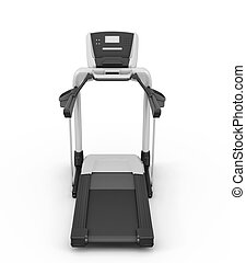 Treadmill on a white