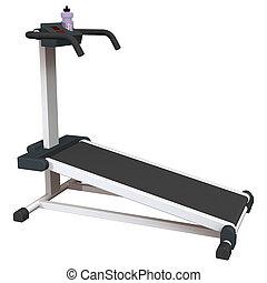 Treadmill on White