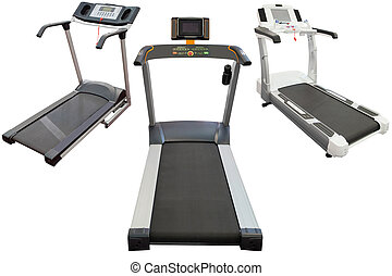 treadmill isolated under the white background