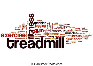 Treadmill word cloud