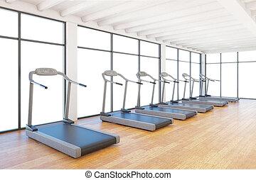 treadmills staying in gym