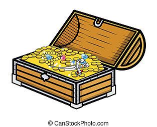 Treasure Box - Vector Illustration