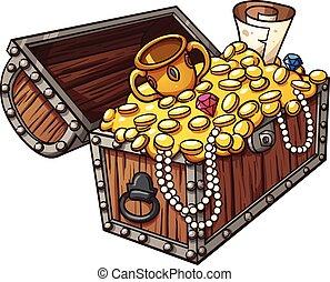 Treasure chest - Cartoon treasure chest. Vector clip art ...