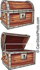 Treasure chest - Cartoon treasure chest. Vector clip art...
