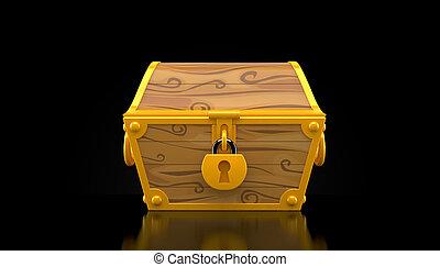 Treasure chest isolated