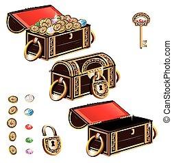 Treasure Chest jewelry ornament set