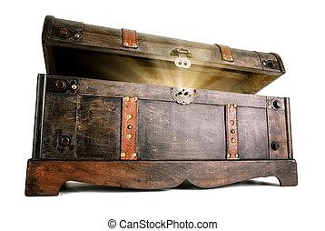 Treasure chest reveals a luminous secret