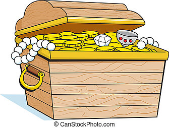 Treasure Chest - Treasure chest filled with gold coins