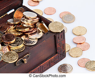 Treasure chest with coins ?