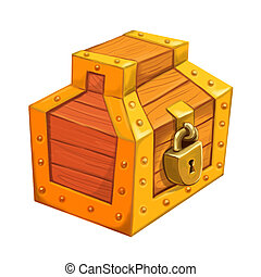 Treasure chest with sealed lock