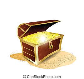 Treasure Full of Gold Illustration