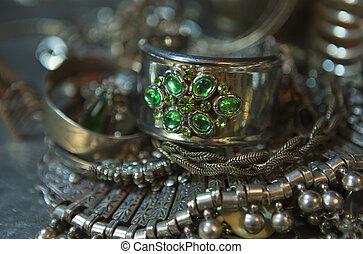 Treasure, heap of Beautiful Oriental Silver Bridal jewelry (Indian, Arab, African, Egyptian)