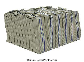 Treasure. Huge bundle of american dollars