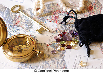 Treasure Hunt - A low contrast still-life of things someone...