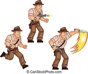 Treasure Hunter - Vector Illustration of Treasure Hunter ala...